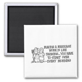 Herstellung eines Heirat-Arbeits-Magneten Quadratischer Magnet