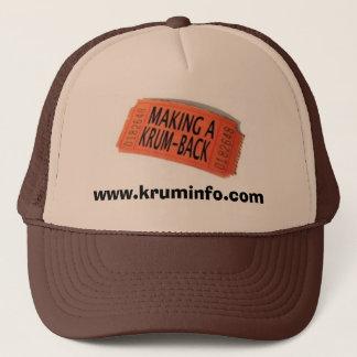 Herstellung von einem Krum-Back, www.kruminfo.com Truckerkappe