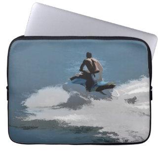 Herstellung Wellen - Jet-Skifahrer Laptop Sleeve
