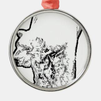 Herumstreichender Eisbär Silbernes Ornament