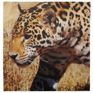 Herumstreichender Leopard Serviette