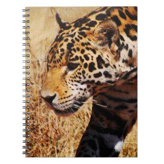 Herumstreichender Leopard Spiral Notizblock