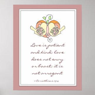 Herz-13:4 der Scripture-Liebe-1, Hochzeits- oder D Plakatdruck