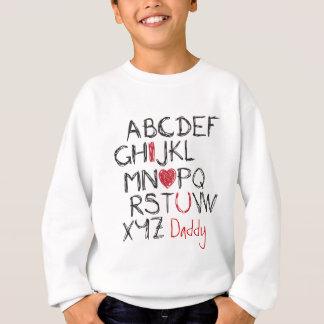 Herz ABCs I Sie personalisiert Sweatshirt