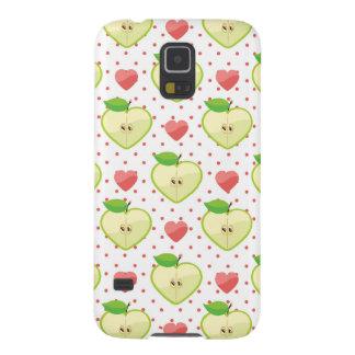Herz-Äpfel mit rosa Tupfen und Herzen Galaxy S5 Hüllen