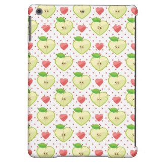 Herz-Äpfel mit rosa Tupfen und Herzen iPad Air Hülle