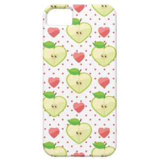 Herz-Äpfel mit rosa Tupfen und Herzen iPhone 5 Schutzhüllen