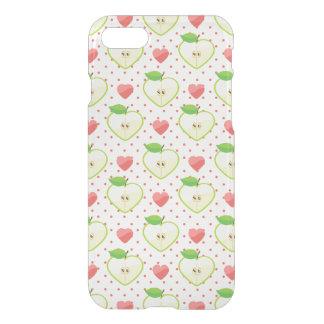 Herz-Äpfel mit rosa Tupfen und Herzen iPhone 8/7 Hülle
