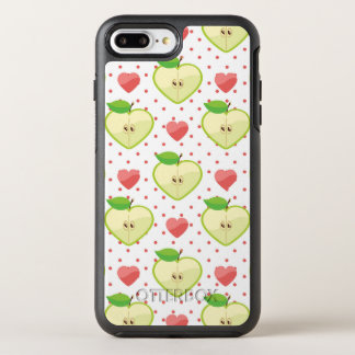 Herz-Äpfel mit rosa Tupfen und Herzen OtterBox Symmetry iPhone 8 Plus/7 Plus Hülle