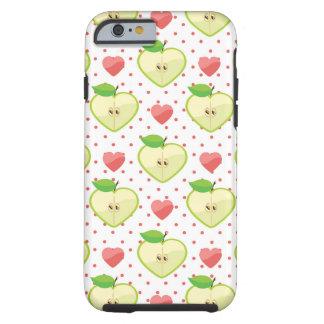 Herz-Äpfel mit rosa Tupfen und Herzen Tough iPhone 6 Hülle