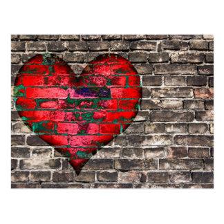 Herz auf der Wand Postkarten