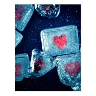 Herz auf Eis Postkarte
