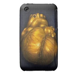 Herz aus Gold - iPhone 3 schützender Fall iPhone 3 Case-Mate Hülle