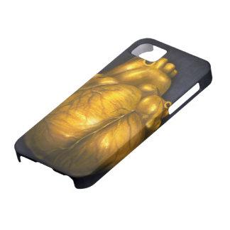 Herz aus Gold - iPhone 5 schützender Fall iPhone 5 Schutzhülle