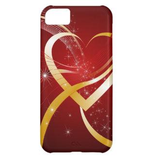 Herz aus Gold iPhone 5C Hülle