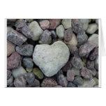 Herz aus Stein Grußkarte