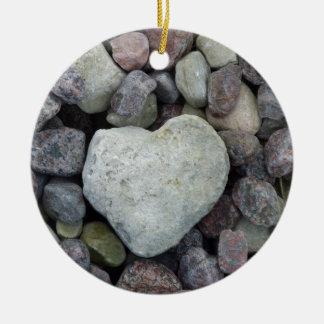 Herz aus Stein Keramik Ornament