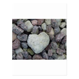 Herz aus Stein Postkarte