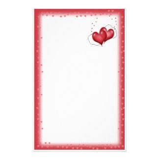 Herz-Ballone mit wenig Herzen Briefpapier