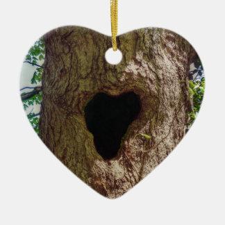 Herz-Baum Keramik Ornament