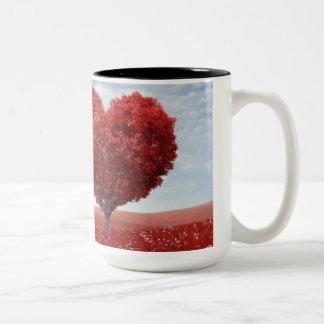 Herz-Baum-Tasse Zweifarbige Tasse