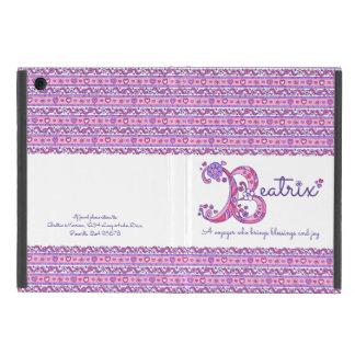Herz Beatrix-Buchstaben B und Blumenkunst ipad iPad Mini Hülle