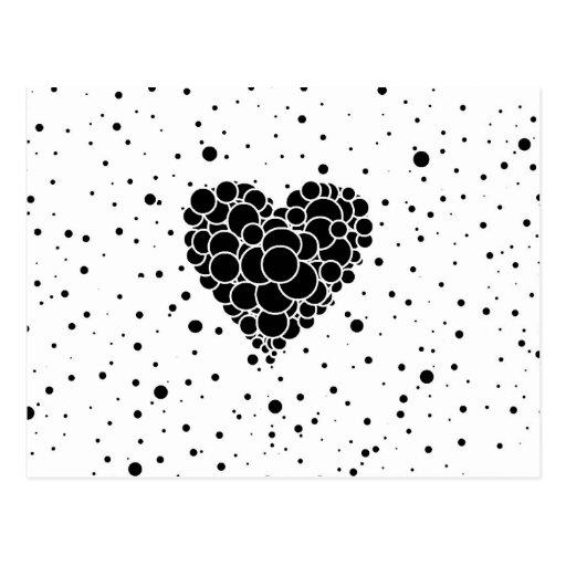 Herz Blasen Postkarten