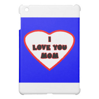 Herz blaues Transp füllte die MUSEUM Zazzle iPad Mini Cover