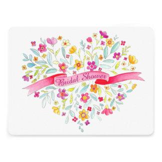 Herz-Blume Blumenstrauß-Kunst-Brautparty laden ein