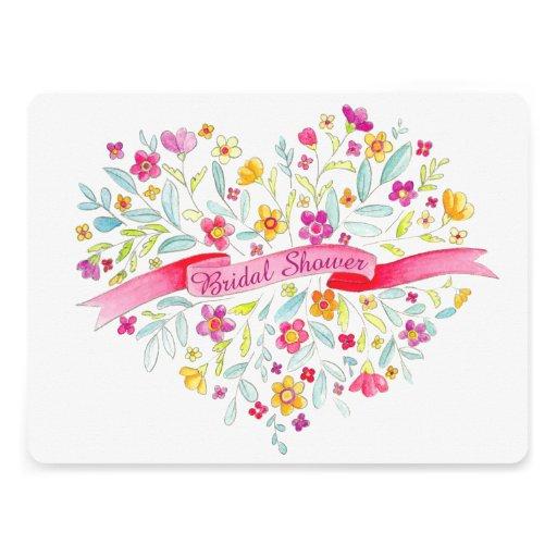 Herz-Blume Blumenstrauß-Kunst-Brautparty laden ein Individuelle Einladung