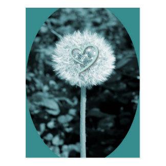 Herz blume Herz-Blume Postkarte