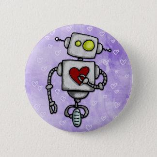 Herz Bot Runder Button 5,7 Cm
