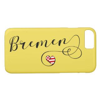 Herz-Bremen-Handy-Fall, Deutschland iPhone 8/7 Hülle