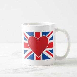 Herz-Briten-Flagge Kaffeetasse