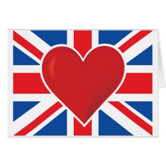 Herz-Briten-Flagge Karte