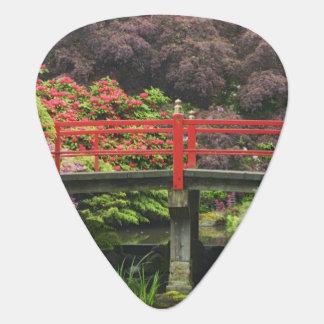 Herz-Brücke mit blühenden Rhododendren, Plektron