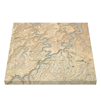 Herz Canyonlands (Utah) des Karten-Leinwanddruckes Leinwanddruck