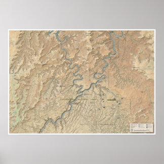 Herz Canyonlands (Utah) des Kartenplakats Poster