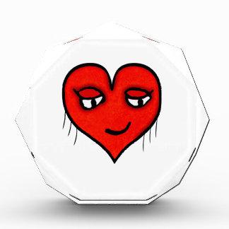 Herz-Charakter-Zeichnen Acryl Auszeichnung