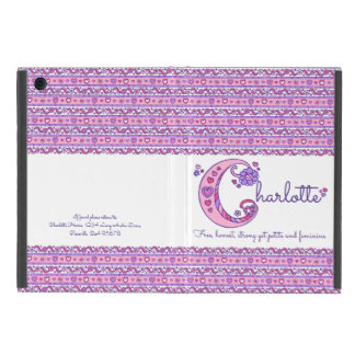 Herz Charlotte-Buchstaben C und Blumenkunst ipad iPad Mini Schutzhülle