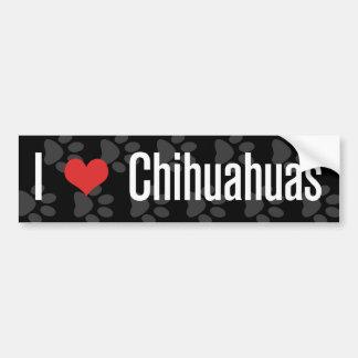 (Herz) Chihuahua I Autoaufkleber