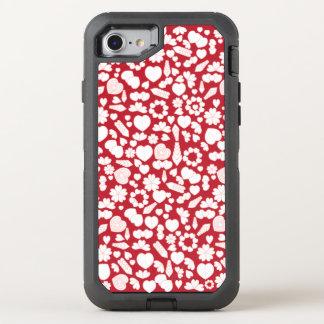 Herz-Collage auf Rot OtterBox Defender iPhone 8/7 Hülle