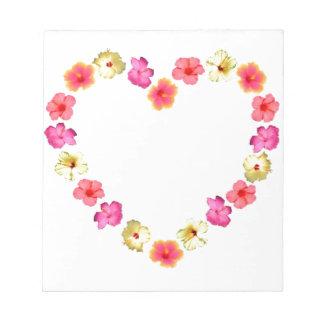 Herz der Blumen Notizblöcke