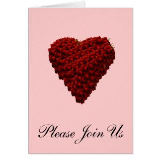 Herz der Rosen, die Einladung wedding sind
