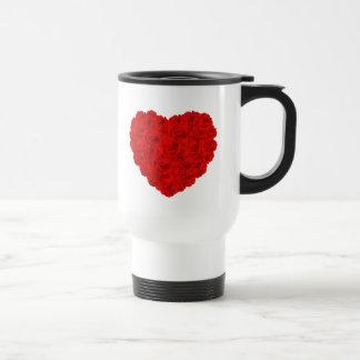 Herz der Rosenreise-Tasse Edelstahl Thermotasse