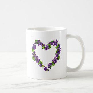 Herz der Veilchen Kaffeetasse