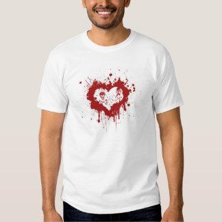 Herz des Bluts mit Totenköpfen ,(T-Shirt) Shirt