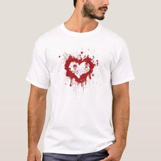 Herz des Bluts mit Totenköpfen ,(T-Shirt) T-Shirt