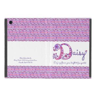 Herz des Gänseblümchenbuchstaben D und Blumenkunst iPad Mini Hüllen