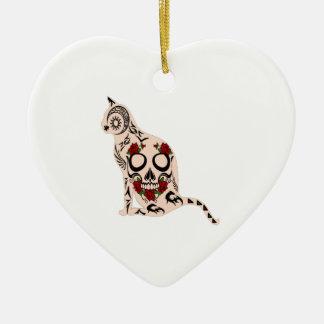 Herz des Schädels Keramik Herz-Ornament